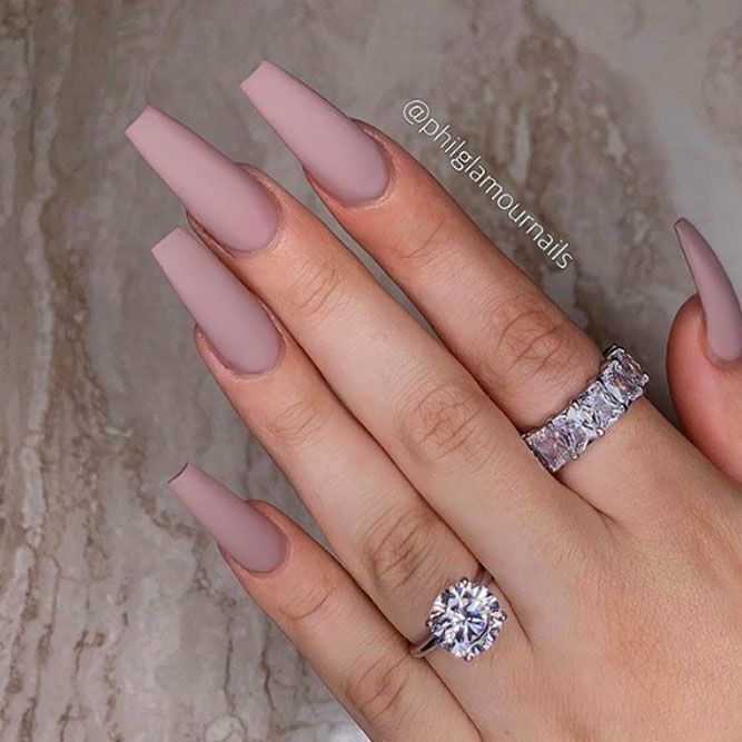 Simple Matte Nails For Everyday