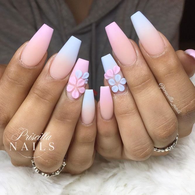 Frosted Matte Coffin Nail Designs