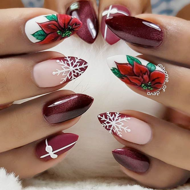 Charming Poinsettia Nail Art picture 1