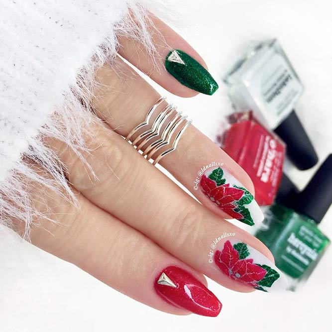 Charming Poinsettia Nail Art picture 2