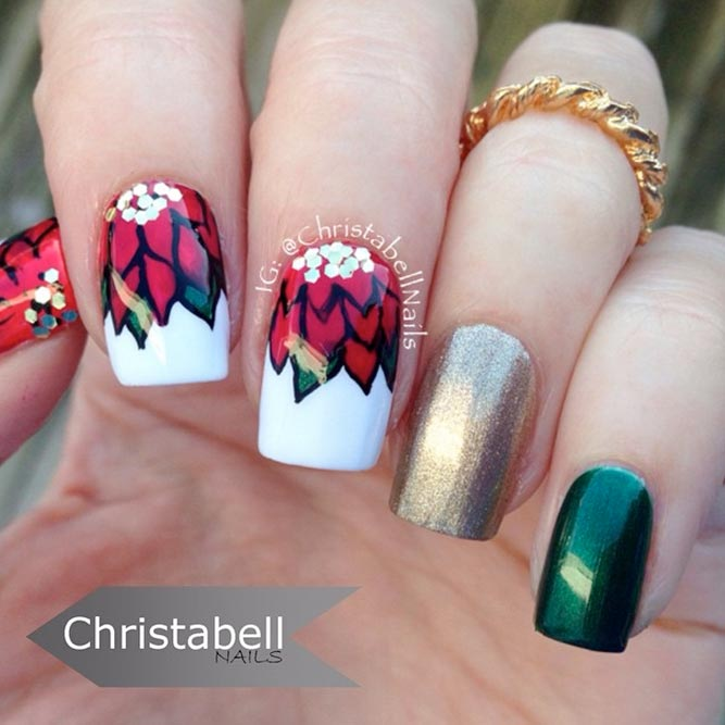 Charming Poinsettia Nail Art picture 3