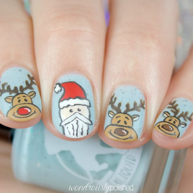 Deer for Christmas Nails picture 3
