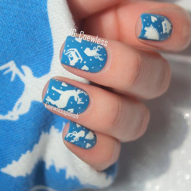 Deer for Christmas Nails picture 2