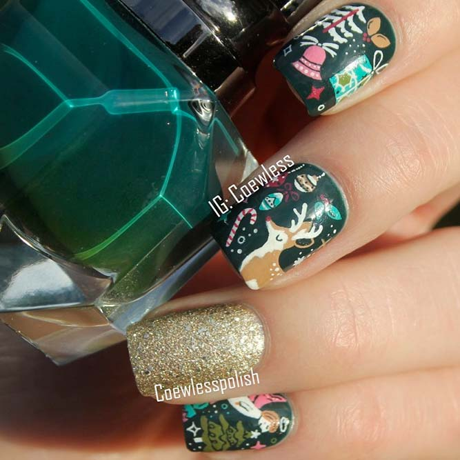 Deer for Christmas Nails picture 1