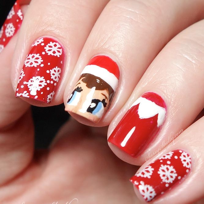 Holiday Nail Designs with Santas Helpers picture 2