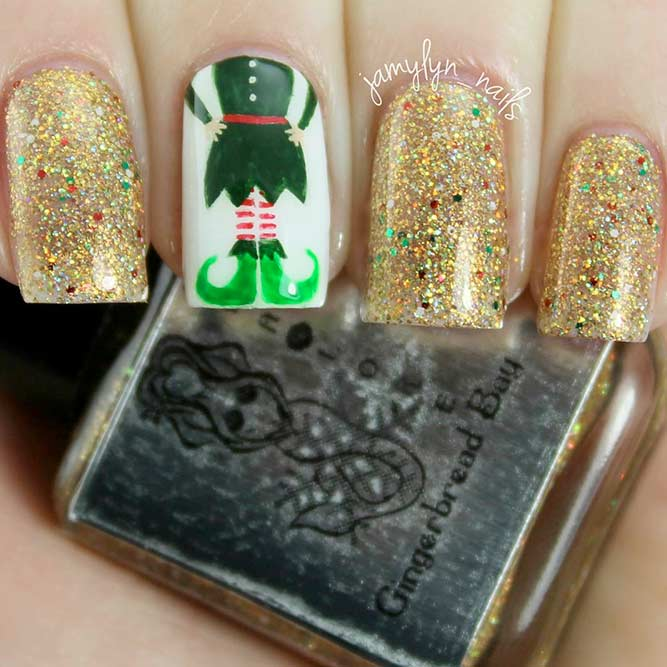 Holiday Nail Designs with Santa's Helpers picture 3