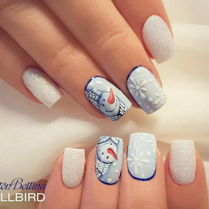 Holiday nails designs to turn on festive mood naildesignsjournal snow friend for holiday nail art picture 1 prinsesfo Images