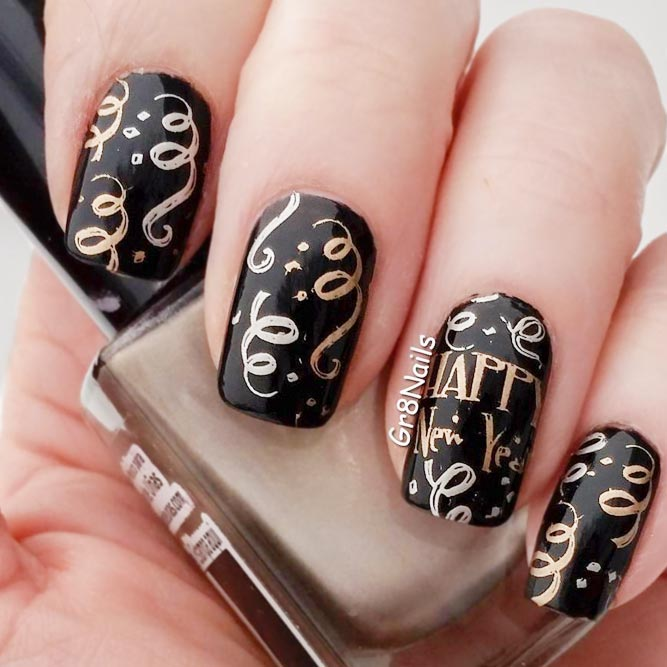 Create your holiday mood with our ideas for new years nails happy new year nail art for everyone picture 1 prinsesfo Image collections