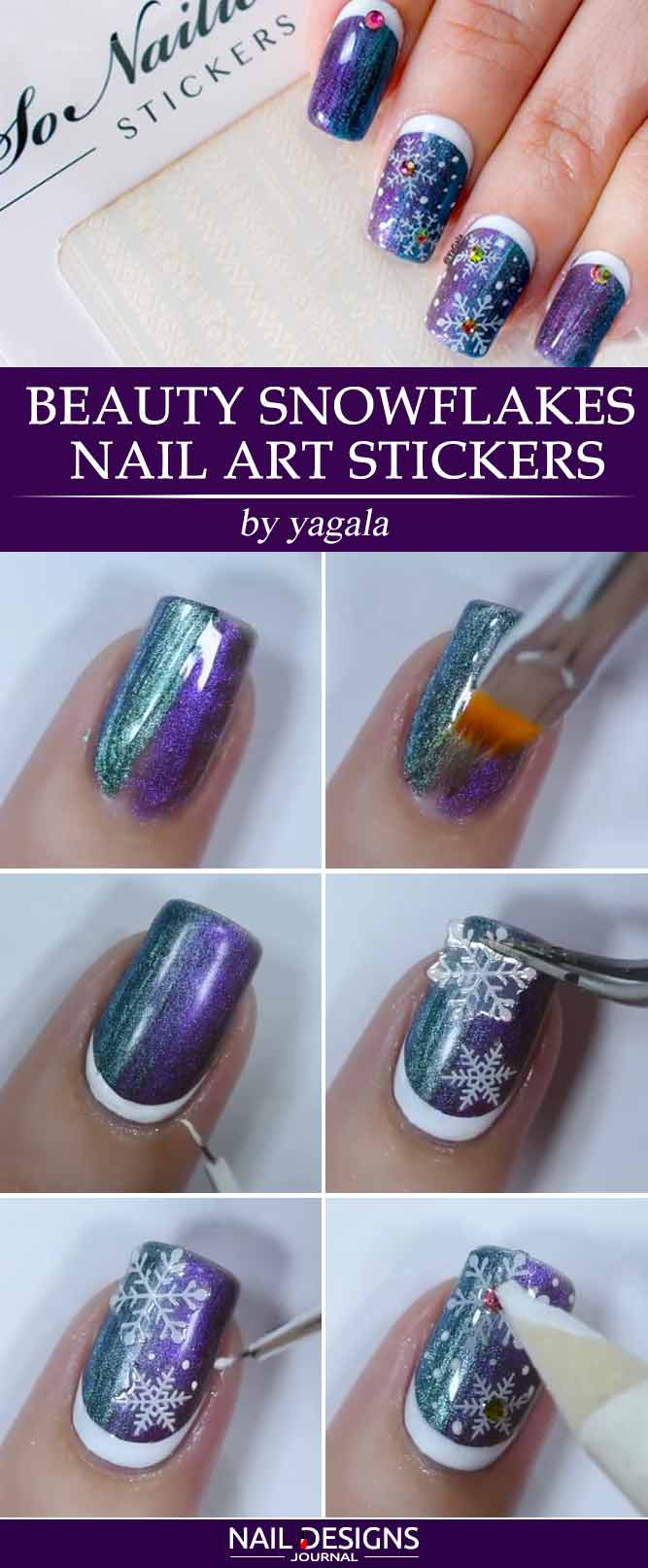 Beauty Snowflakes Nail Art Stickers