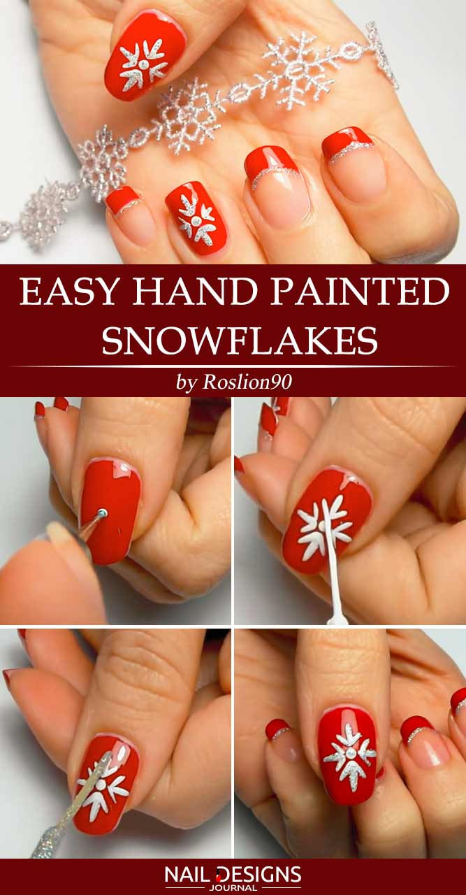 Super Easy Hand Painted Snowflakes