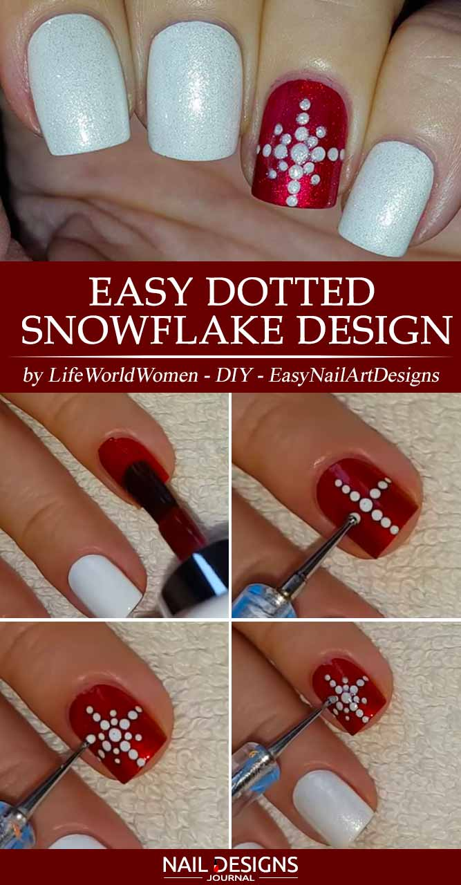 Easy Dotted Snowflake Design