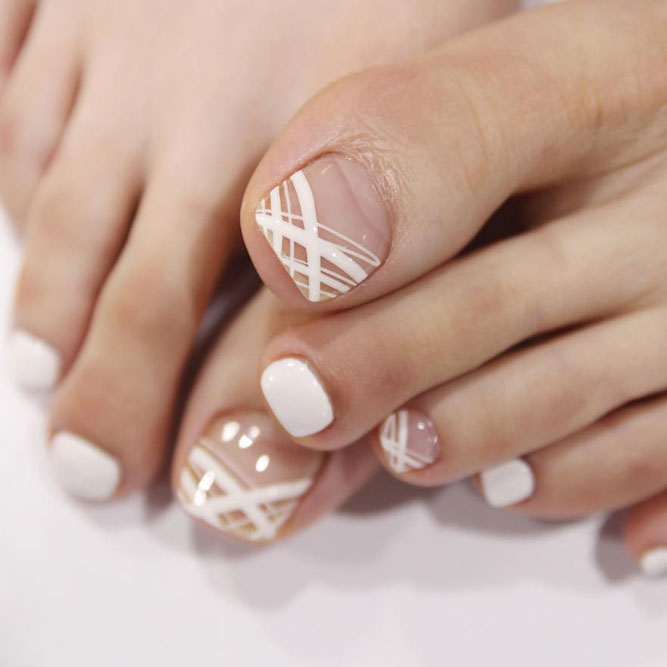 Toe Nail Designs With Stripes