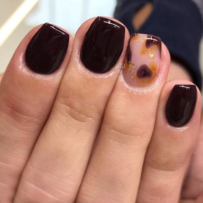 Dark Chocolate Nails