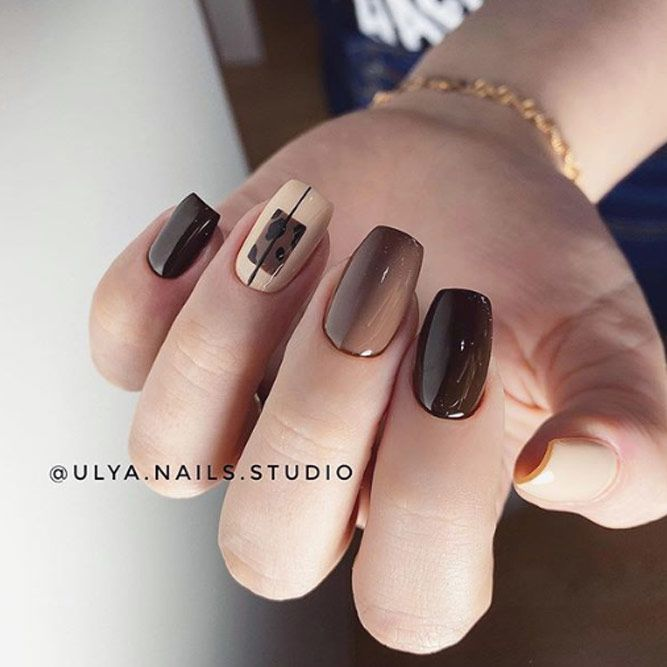 Beauty Chocolate Nails