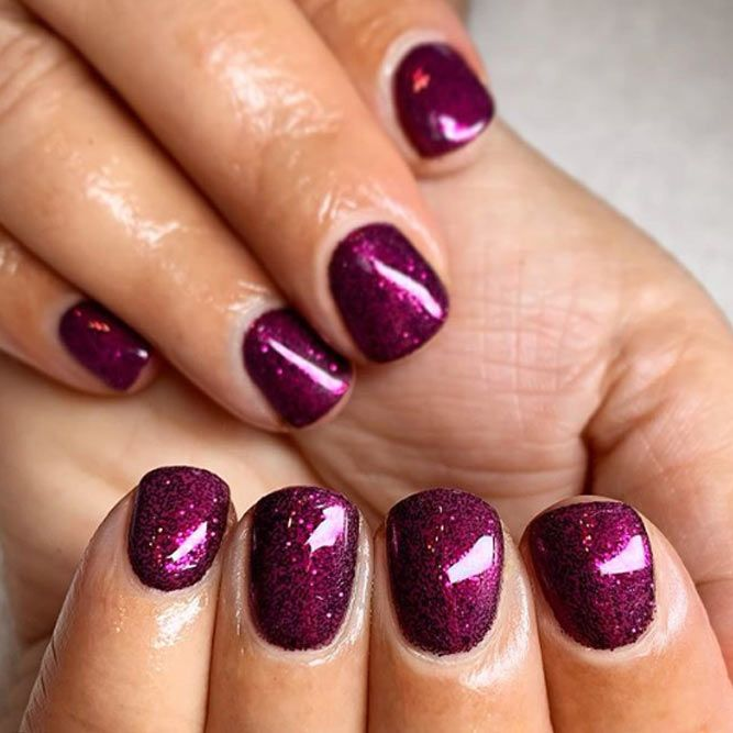 Hot Plum Nails Color