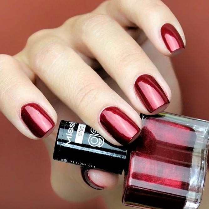 Proven Winter Nail Colors Dark Red picture 3