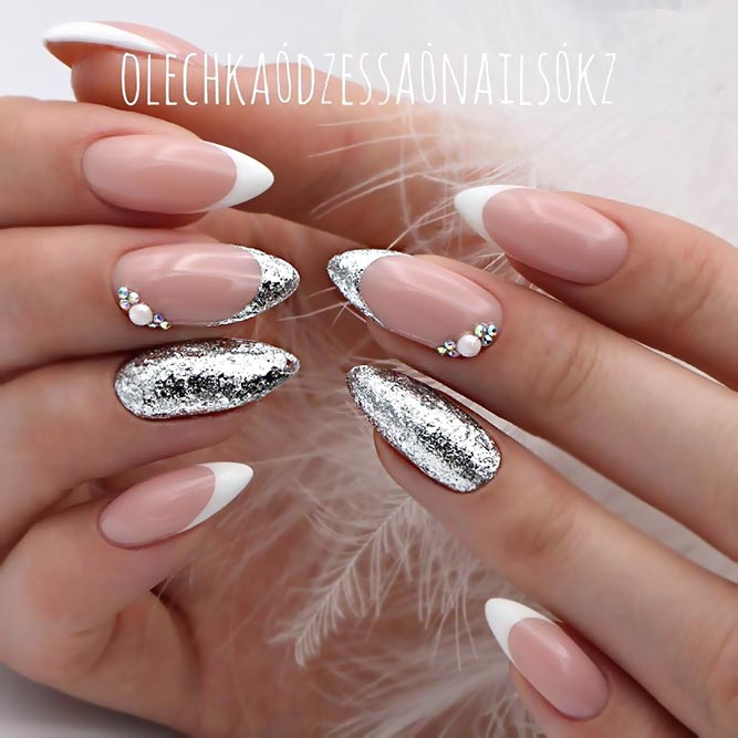 Sparkly French Mani