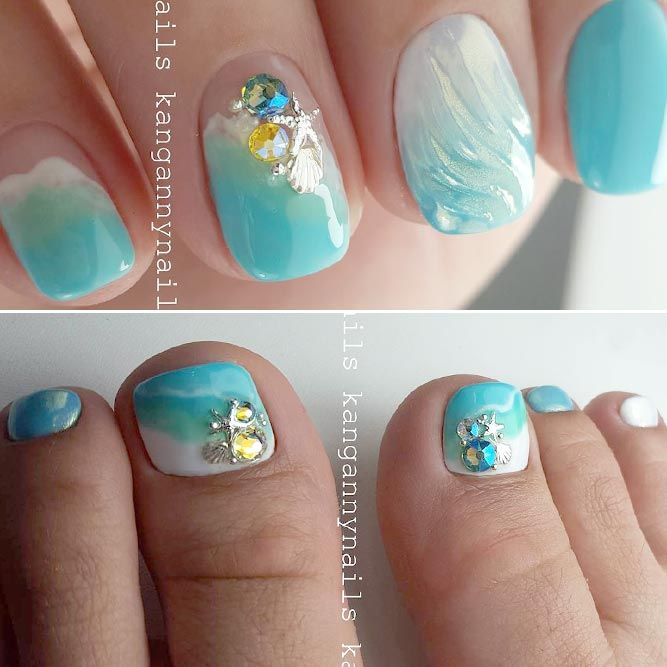 Summer Mani Pedi For Beach Time picture 2