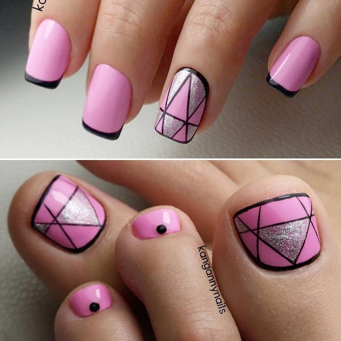 Trendy Geometry Pedicure picture 1
