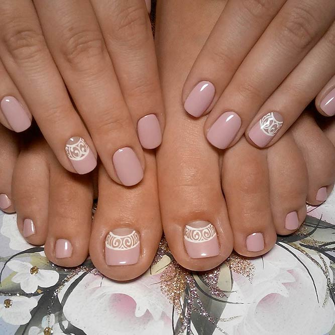 Elegant Nude Manicure and Pedicure picture 1