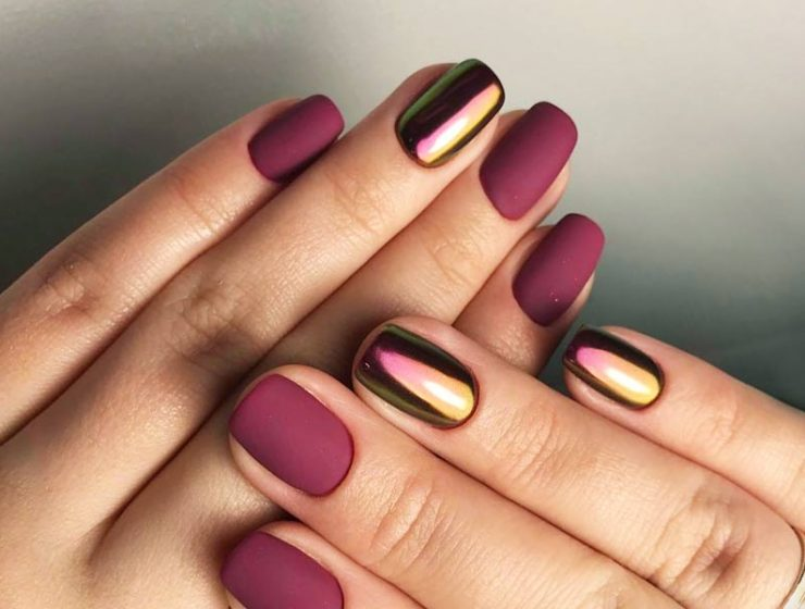Matte Maroon Gel Nail Polish - Creative Touch