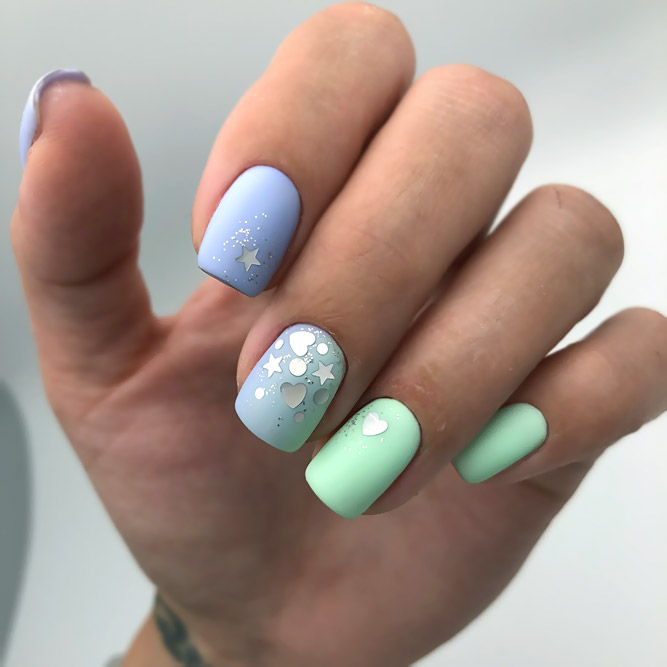 Starry And Colorful Ombre Designs