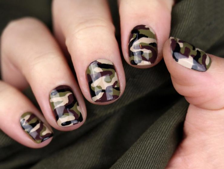 Easy Camo Nails - How To Do It In Simple Steps