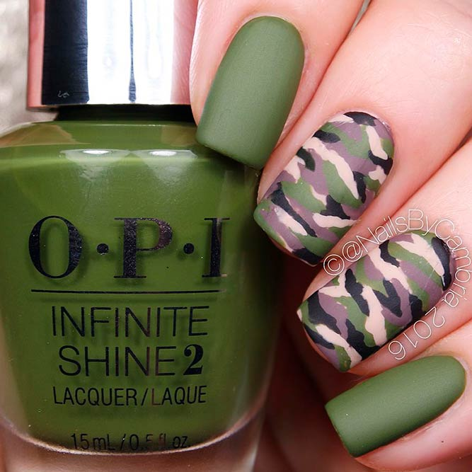Cool Ideas For Short Camo Nails picture 2
