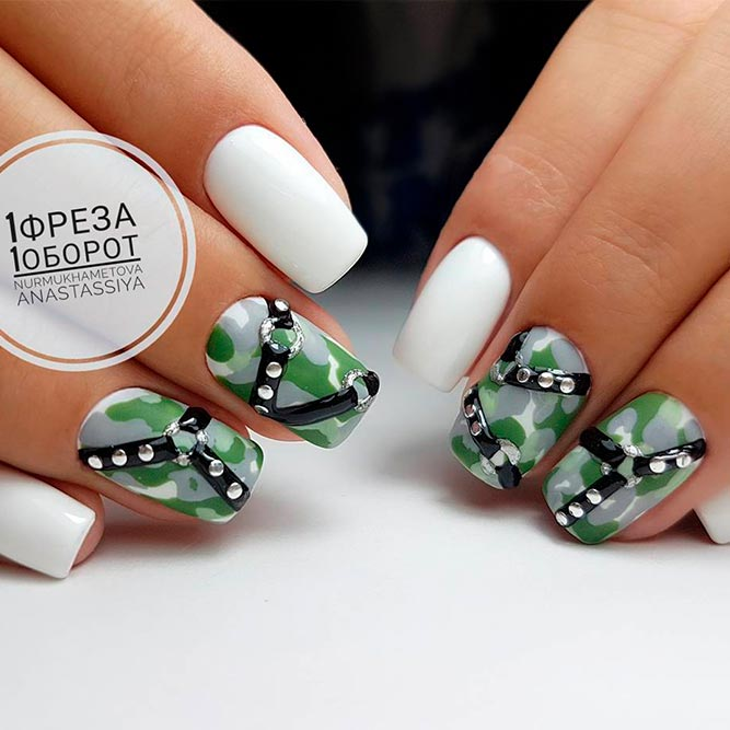 Cool Ideas For Short Camo Nails picture 3