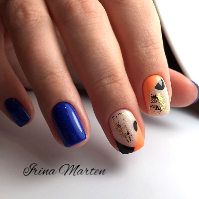 Interesting Manicure In Bright Hues
