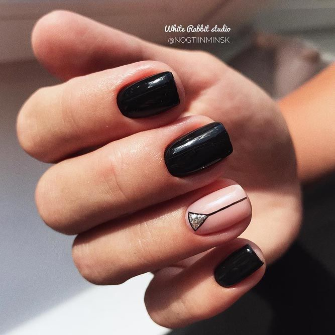 Perfectly Black Classy Nails
