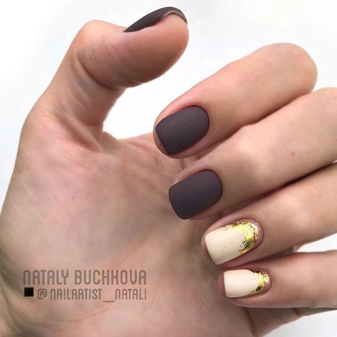 The Contrast Of Dark & Light Shades With Gold Foil