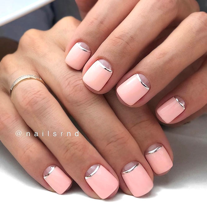 Classy Nails With Charming Stripes