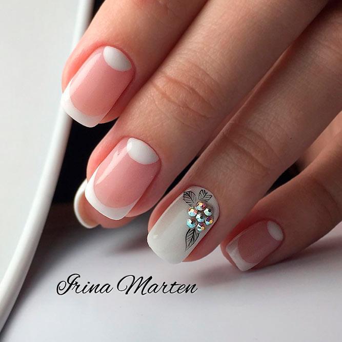 Sweet Half Moon Nail Art Design