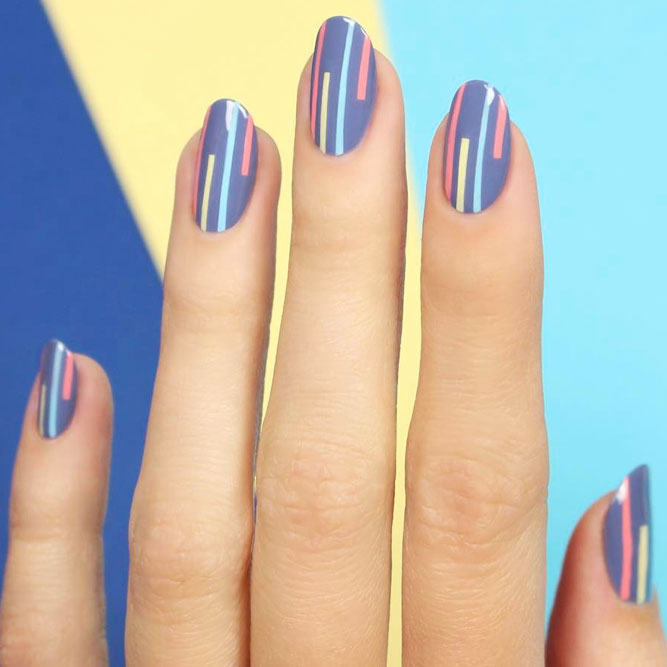 Easy Nail Art Designs Using Stripes picture 1