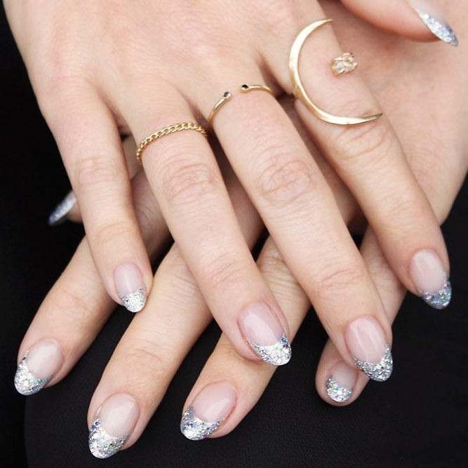 Gorgeous Metallic French Tips picture 2