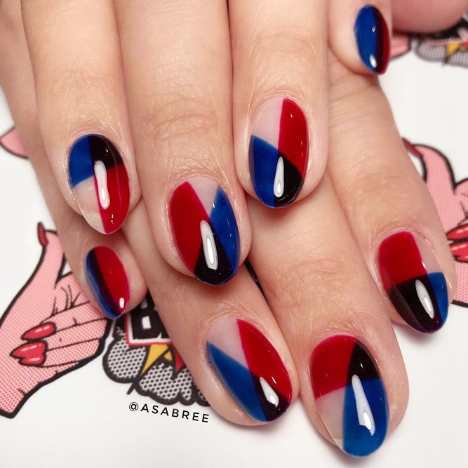 Fancy Nails With Brightly Color Blocking picture 1
