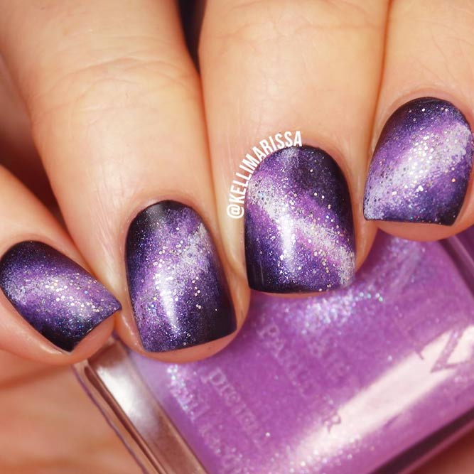 Hypnotic Galaxy Nail Art picture 3