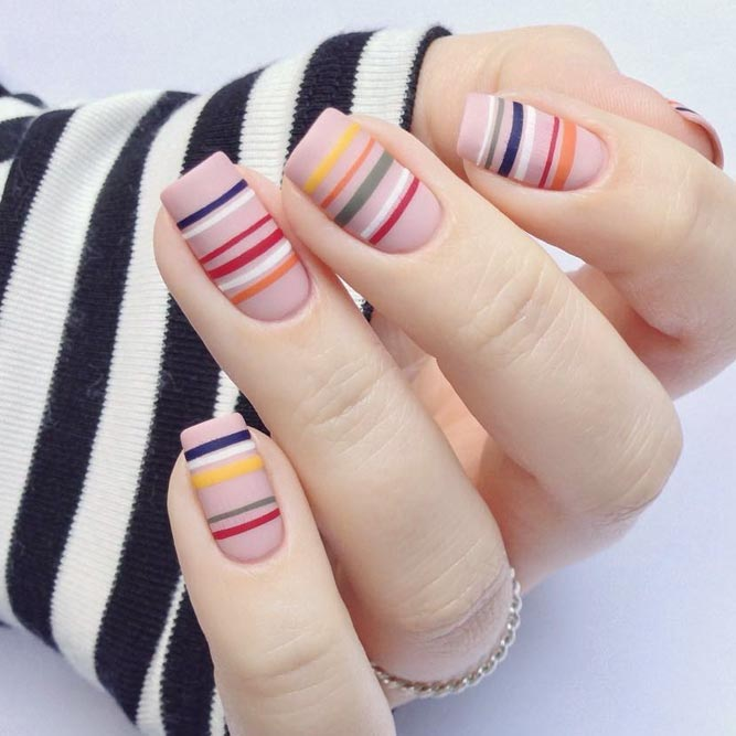 Easy Nail Art Designs Using Stripes picture 3