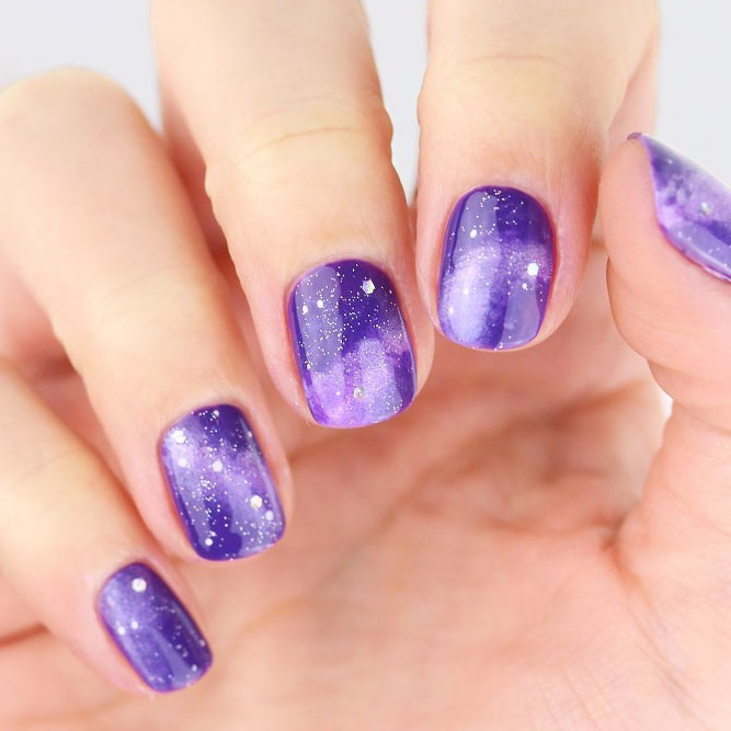 Hypnotic Galaxy Nail Art picture 1