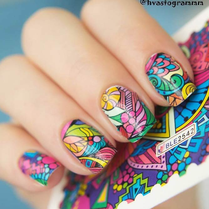Easy DIY Nail Designs With Stickers And Wraps picture 2