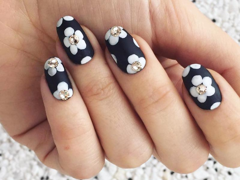 matte nail designs 27 fancy ways to rock matte black nails 13114
