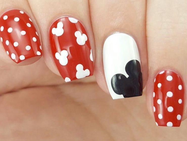 Explore the best nail art designs in 2017 naildesignsjournal 5 lovely mickey mouse nails art tutorials youll want to try prinsesfo Images