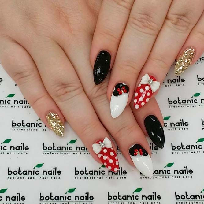 Luxure Nail Designs With Minnie Mouse picture 2 - Mickey Mouse Nails Ideas To Inspire You NailDesignsJournal.com