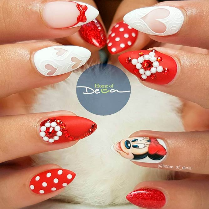 Luxure Nail Designs With Minnie Mouse picture 1