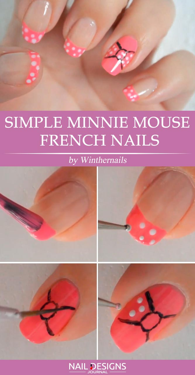 Minnie Mouse French Nails