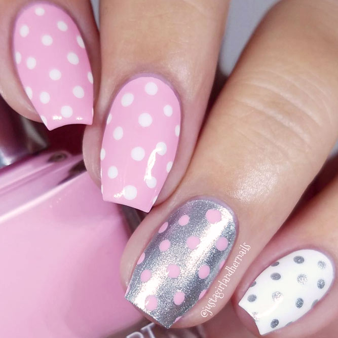 Cute Pink Dotted Designs picture 1
