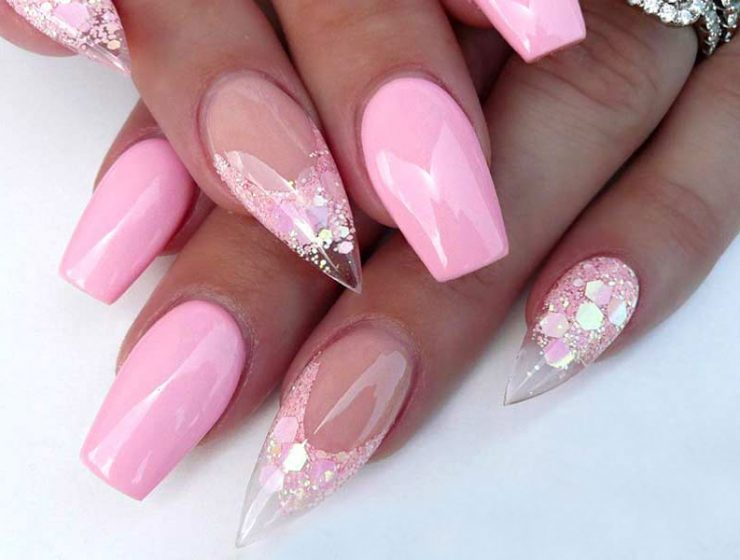Pink Nails Designs to Look Romantic and Girly