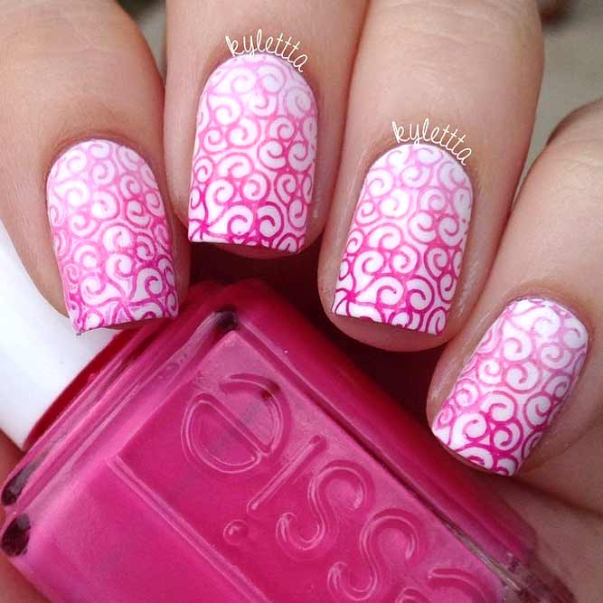 Laced Pink Nails Charming and Elegant picture 3
