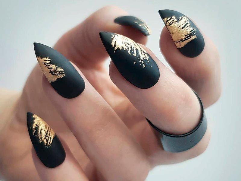 27 Fancy Ways To Rock Matte Black Nails